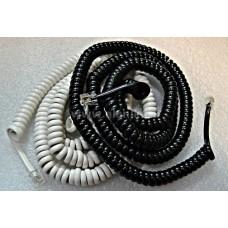 Шнур ТФ (витой)  телефон - трубка 7,5 м  черный